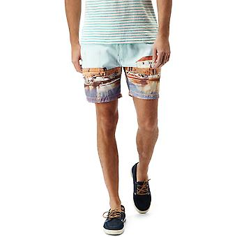 Craghoppers Mens Northbeach estampados Shorts da praia mergulho seco