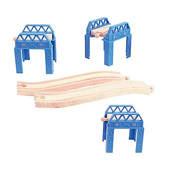 Bigjigs Rail Wooden Construction Support Train Track Set Expansion Pack