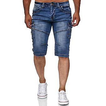 Men's Bermuda Jeans Shorts Cotton Shorts Stone Washed Summer Capri Trousers