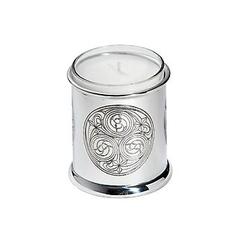 Kells Circle Embossed Pewter Votive