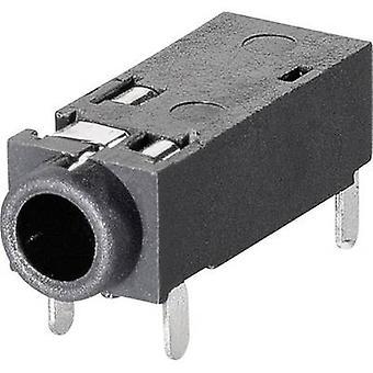 BKL elektronisk 1109202 2.5 mm audio jack Socket, horisontal mount antall pinner: 4 Stereo 1 eller flere PCer