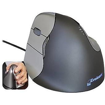 Evoluent Vertical Mouse 4 VM4L Ergonomic mouse Optical Ergonomic Grey, Argent