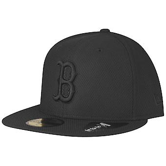 New era 59Fifty Fitted DIAMOND Cap - Boston Red Sox black