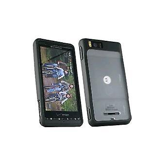 OEM-Verizon dubbla täcker fallet för Motorola Droid X MB810 (svart) (Bulk förpackning)