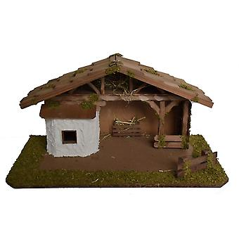 Christmas Nativity scene wood Nativity stable ABIGAL without figures 55 x 29 x 28 cm hand work