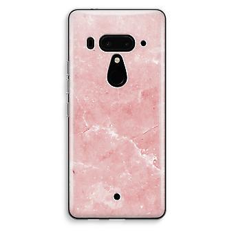 HTC U12 + gennemsigtig sag (Soft) - Pink marmor