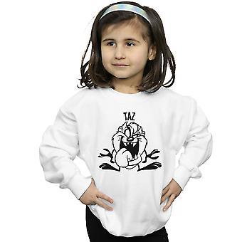 Looney Tunes Girls Taz Large Head Sweatshirt