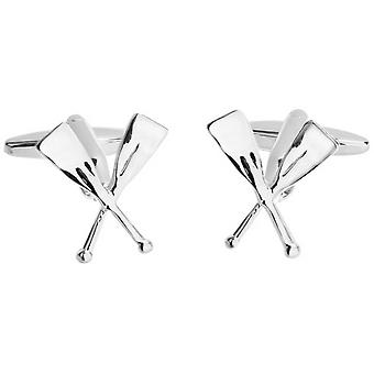 Zennor Crossed Oars Cufflinks - Silver