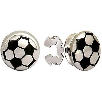 David Van Hagen knoophoesjes voetbal - zwart/zilver