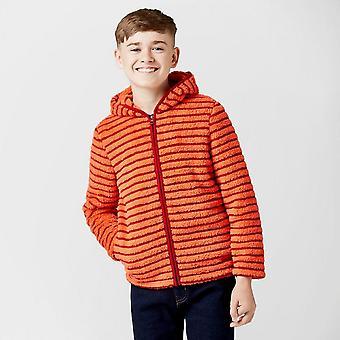 Nieuwe Peter Storm Boy's Teddy full zip Hooded fleece oranje