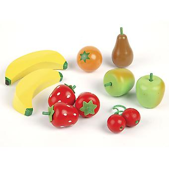 Tidlo Wooden Play Food Fruit Salad Roleplay Kitchen Accessories