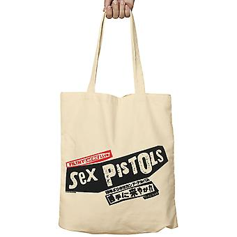 Official Sex Pistols Tote Bag Filthy Lucre Live Japan Band Logo new Beige Fabric