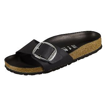 Birkenstock Madrid Big Buckle Musta Luonnonnahka 1006523 universal kesä naisten kengät