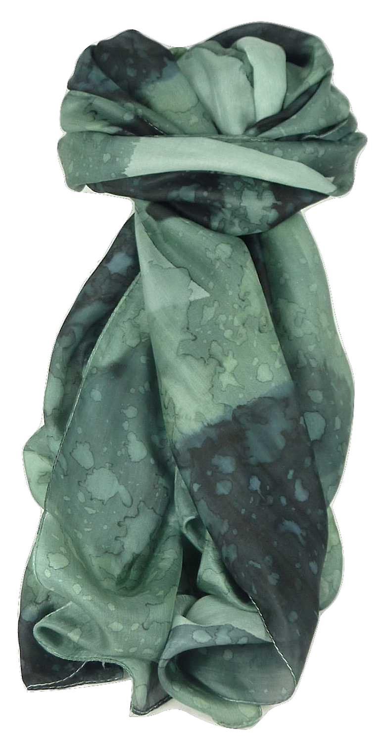 Mulberry Silk Hand Painted Long Scarf Classic Charcoal by Pashmina & Silk