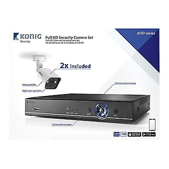 CCTV Set-Full HD DVR, 1TB HDD, 2x surveillance cameras