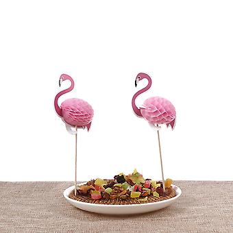 10ST FLAMINGO CUPCAKE TOPPERS