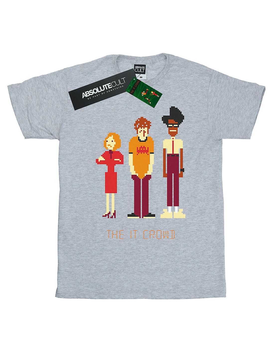 The IT Crowd Girls Pixel Crew T-Shirt