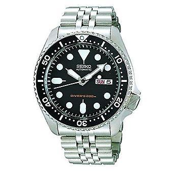 Seiko Diver's automatische zwarte wijzerplaat RVS mannen horloge SKX007K2