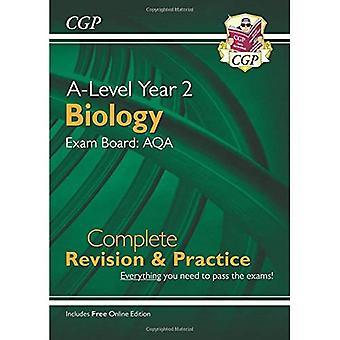 Nouveau baccalauréat biologie pour 2018: AQA année 2 révision complète & pratique avec l'édition en ligne