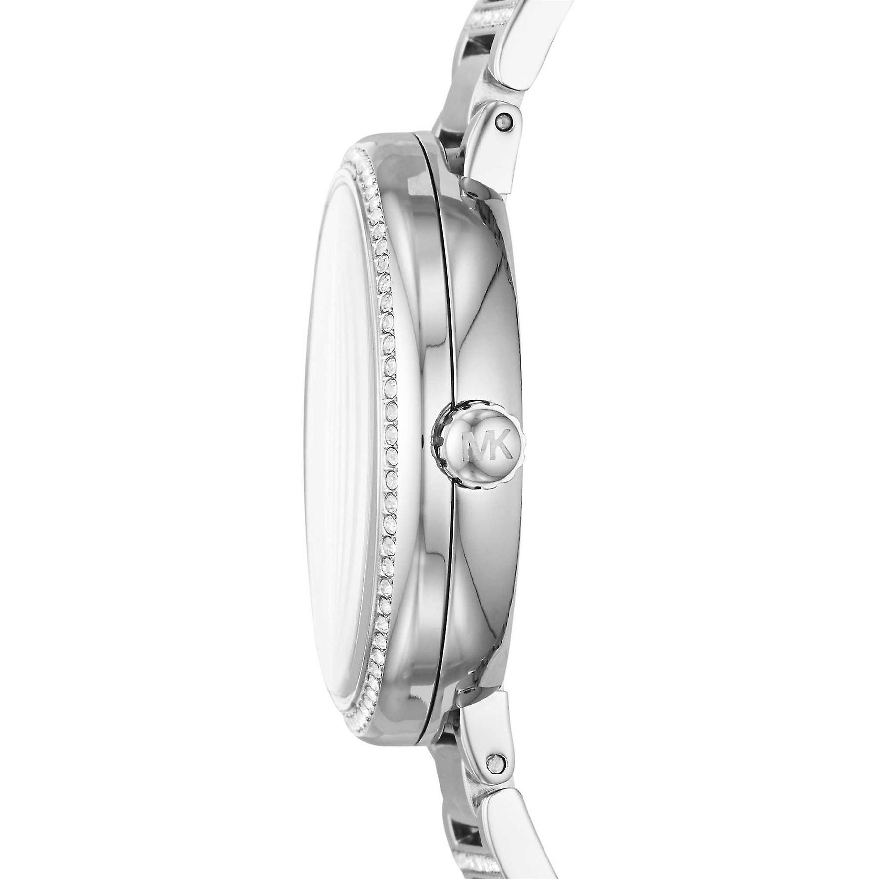 Michael Kors Courtney Pave Crystal Silver Tone Mesdames Wrist Watch MK3835