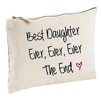 Best Daughter Ever Ever Ever The End Natural Make up Bag