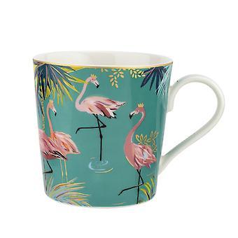 Sara Miller Tahiti Mug, Flamingo