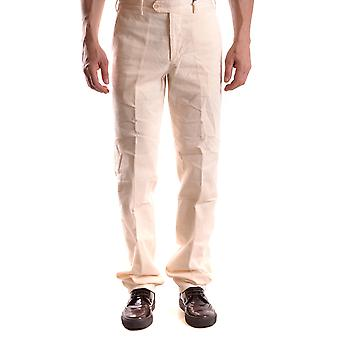 Alberto Aspesi Ezbc067092 Men's White Cotton Pants