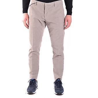 Paolo Pecora Ezbc059024 Men's Beige Velvet Pants