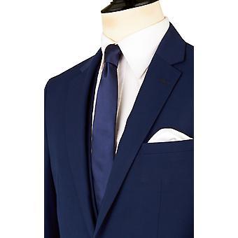 Добелл Mens темно синий 2 костюм Slim Fit Notch петличный