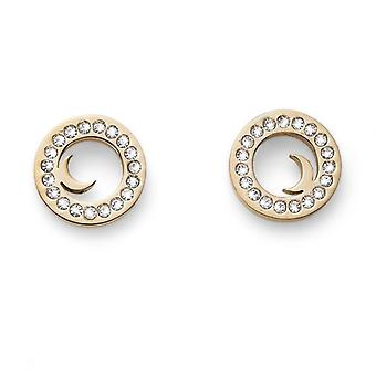 Earring Little Moon STE GP CRY