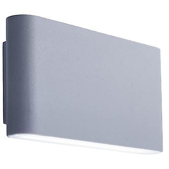 Searchlight LED Outdoor Wall Light In Grey With Frosted Diffuser