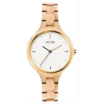 MAM Silt Watch - Light Wood Brown/White