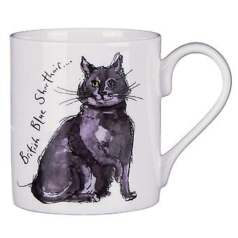 Madeleine Floyd British Blue Cat Mug