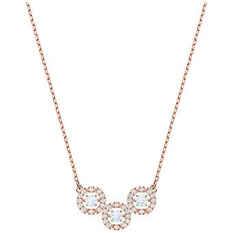 Swarovski Sparkling Dance Trilogy Necklace - White - Rose Gold Plating