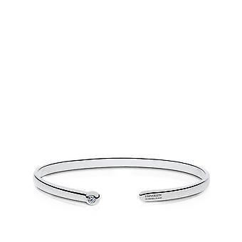 Bracciale del bracciale dell'Università del Rhode Island Diamond In Sterling Silver Design di BIXLER