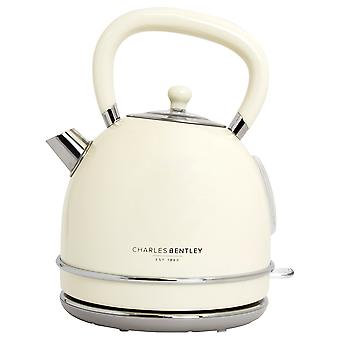 Charles Bentley 3000W 1.7 Litro Crema Dome Kettle Fast Boil 360 Swivel Base