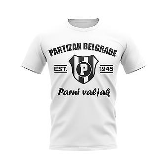 Partizan Belgrad etabliert Fußball T-Shirt (weiß)