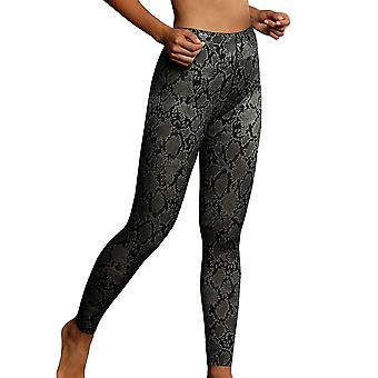 Anita 1696-416 Women's Active Black Python Print Ankle Length Sports Pant