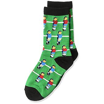 Kids's Crew Socks - K Bell - Fooseball Green (7-8.5)