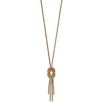 Elementen gouden twist Lariat ketting-goud