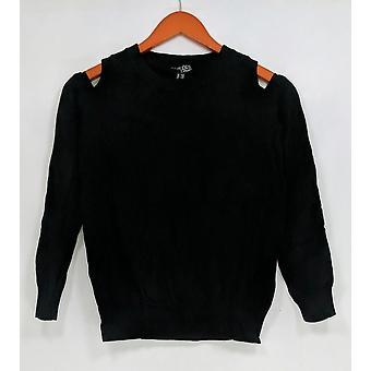Attitudes by Renee Women's Sweater XXS Cold Shoulder Black A301329