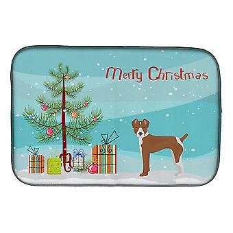 Carolines Treasures CK3482DDM Rat Terrier árvore de Natal prato secagem Mat