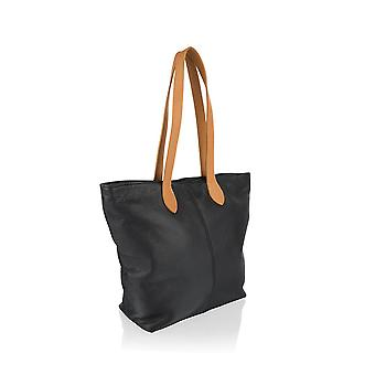 "Tote Shopping Bag 14.5"" Central Zip Carry Handle"