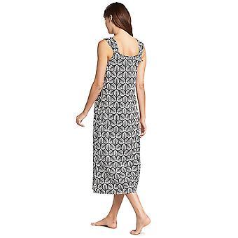 Feraud 3191103-11890 Women's Couture Black Ivory Cotton Nightdress