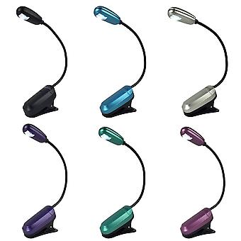 Mighty Bright MiniFlex LED Clip On Book Light Powered With AAA Batteries - 5 Lumens, Various Colours