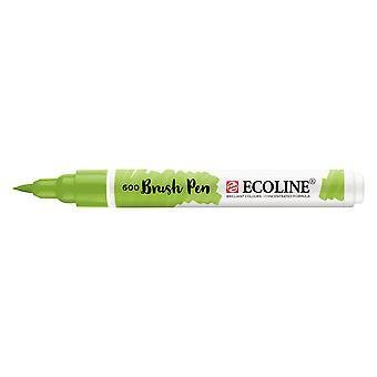 Talens Ecoline Liquid Watercolour Brush Pen - 600 Green