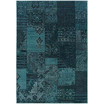 Revival 501g2 teal/grey indoor area rug rectangle 9'10