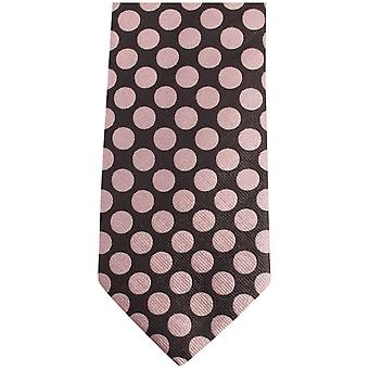 Gene Meyer Cumbria Polka Dot Tie - Gold/Grey/Red