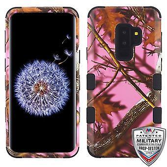 MYBAT vaaleanpunainen tammi-metsästys naamiointi kokoelma/musta TUFF Hybrid Puhelin Protector suojus galaksille S9 Plus