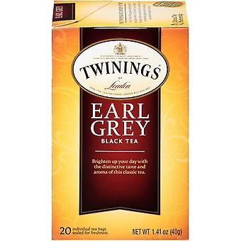 Twinings Of London Earl Grey Black Tea 20 Tea Bags